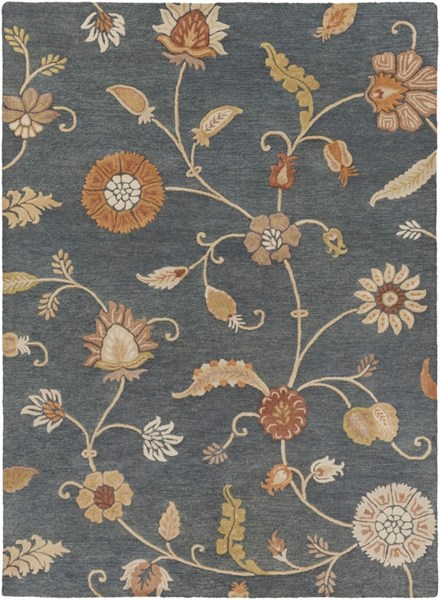 Sprout Contemporary Teal Tan Rust Taupe Fabric Area Rug (L 132 X W 96) SRT2008-811