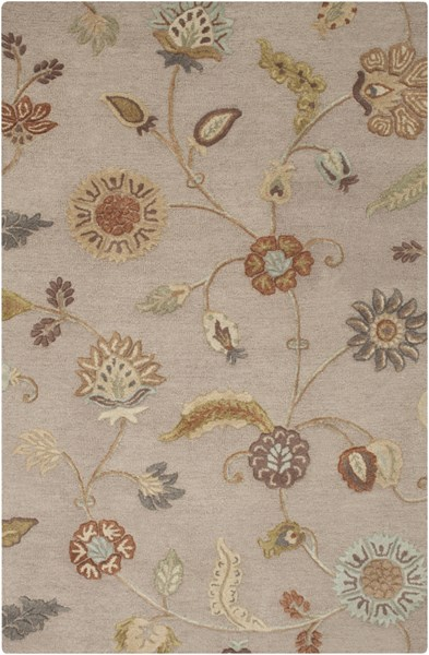 Sprout Gray Rust Olive Ivory Fabric Area Rug (L 96 X W 60) SRT2009-58