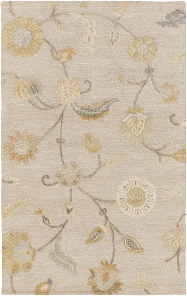 Sprout Light Gray Slate Olive Moss Fabric Area Rug (L 96 X W 60) SRT2011-58