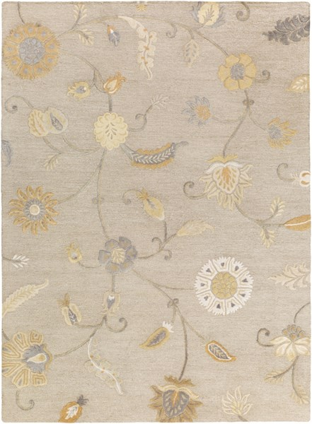 Sprout Light Gray Slate Olive Moss Fabric Area Rug (L 132 X W 96) SRT2011-811