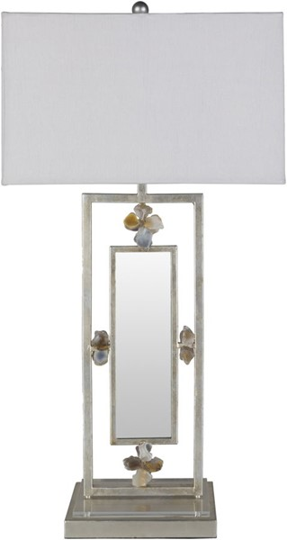 Surya Santuary Ivory Metal Table Lamp - 36.75x36.75 SRY-001