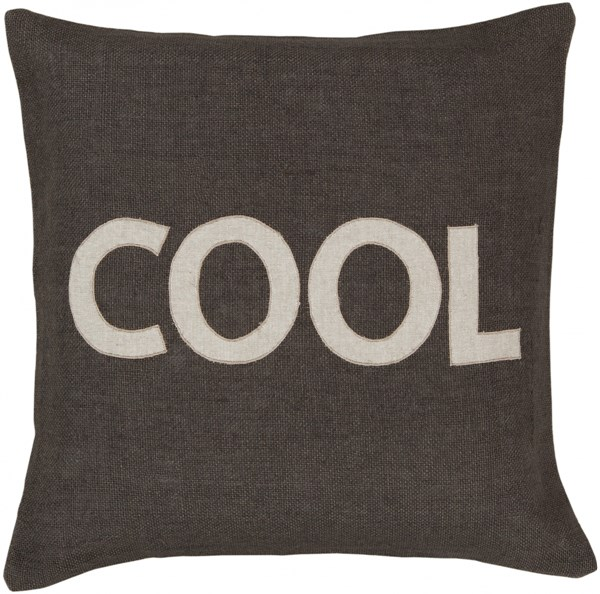 Stencil Olive Gray Fabric Novelty Throw Pillow (L 22 X W 22 X H 5) ST005-2222P