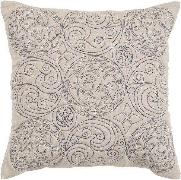 Surya Parchment Ink Cotton Square Pillow Kit ST106-VAR