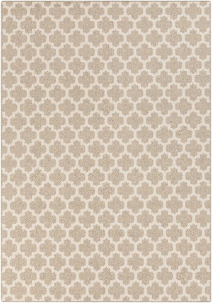 Stockholm Ivory Fabric Power Loomed Area Rug (L 96 X W 60) STK8000-58