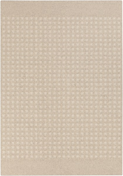 Stockholm Ivory Beige Fabric Power Loomed Area Rug (L 96 X W 60) STK8001-58