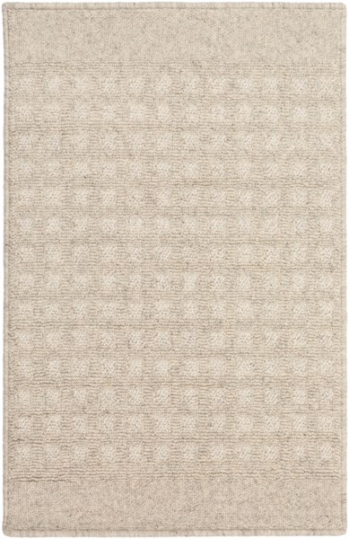 Stockholm Contemporary Ivory Beige Fabric Area Rug (L 36 X W 24) STK8002-23