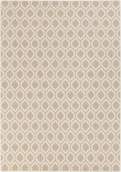 Stockholm Contemporary Ivory Beige Fabric Area Rug (L 96 X W 60) STK8002-58