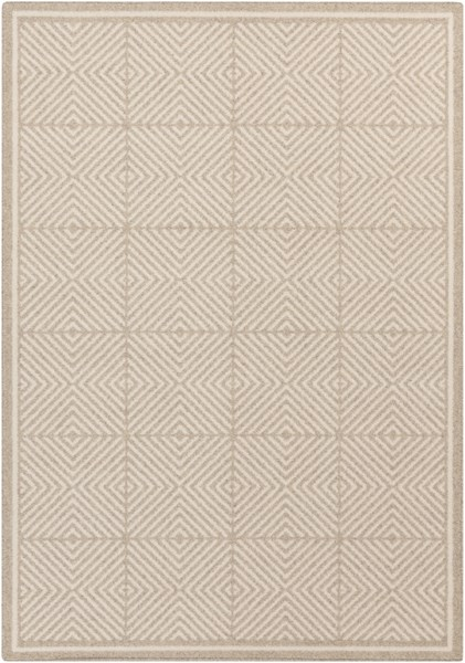 Stockholm Ivory Beige Fabric Rectangle Area Rug (L 96 X W 60) STK8003-58