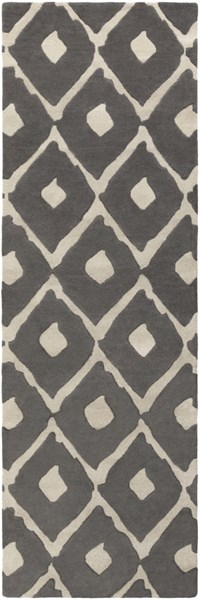 Stamped Contemporary Olive Beige Light Gray Fabric Hand Tufted Rug STAMPED-DCR-BNDL