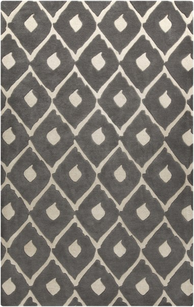 Stamped Light Gray Wool Area Rug - 60 x 96 STM802-58