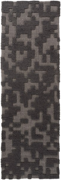 Stencil Gray Wool - Felted Runner - 30 x 96 1967-VAR1