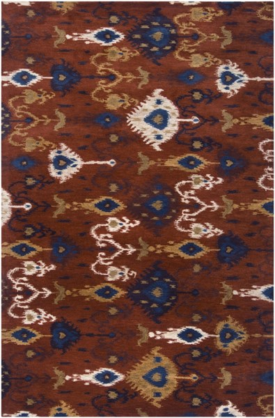 Surroundings Mocha Ivory Forest Olive New Zealand Wool Area Rug- 60x96 SUR1011-58