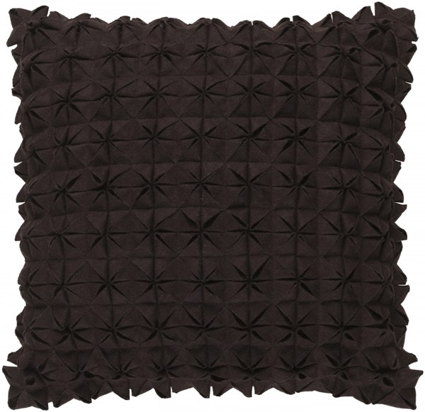 Structure Contemporary Black Fabric Throw Pillow (L 18 X W 18 X H 4) SUU001-1818D