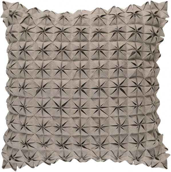 Structure Contemporary Taupe Fabric Throw Pillow (L 22 X W 22 X H 5) SUU003-2222P