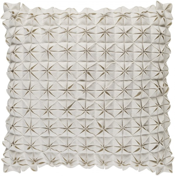 Structure Contemporary Ivory Fabric Throw Pillow (L 20 X W 20 X H 5) SUU004-2020D
