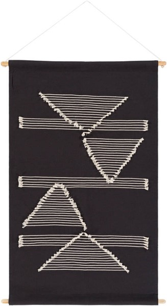 Surya Savion Black Cream Wall Hangings - 36x24 SVI1002-3624