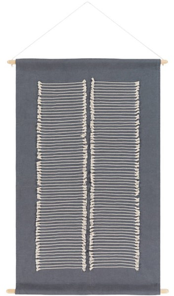 Surya Savion Charcoal Cream Wall Hangings - 36x24 SVI1003-3624