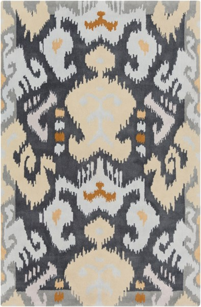 Swank Light Gray Charcoal Mocha Tan Beige Polyester Area Rug - 60 x 96 SWA1001-58