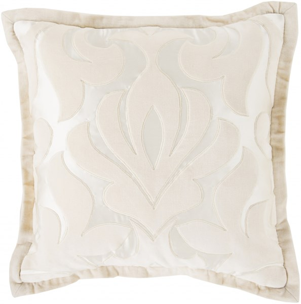Sweet Dreams Pastel Pink Ivory Poly Cotton Throw Pillow - 18x18x4 SWD003-1818P