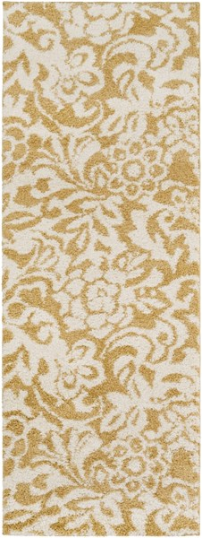 Swift Gold Ivory Mint Polypropylene Area Rug - 31 x 87 SWT4003-2773