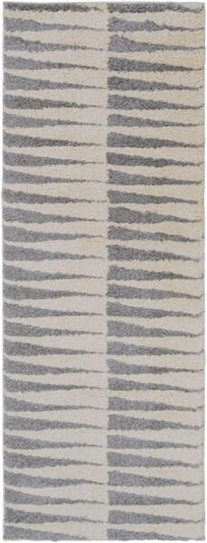 Swift Light Gray Ivory Polypropylene Zig Zag Area Rug (L 87 X W 31) SWT4012-2773