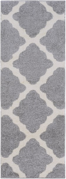 Swift Light Gray Ivory Butter Polypropylene Area Rug (L 87 X W 31) SWT4016-2773