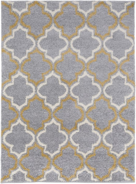 Swift Light Gray Gold Ivory Polypropylene Area Rug - 63 x 87 SWT4017-5373