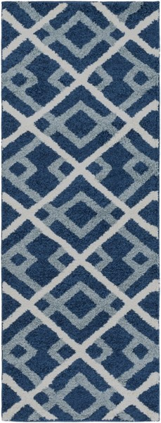 Swift Cobalt Slate Ivory Mint Polypropylene Area Rug - 31 x 87 SWT4020-2773