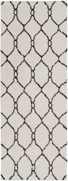 Swift Modern Ivory Black Mint Butter Polypropylene Area Rugs 14367-VAR1