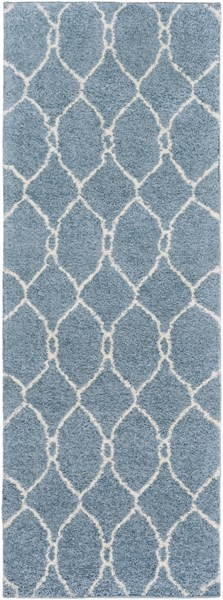 Swift Slate Light Gray Mint Butter Polypropylene Area Rug - 31 x 87 SWT4025-2773