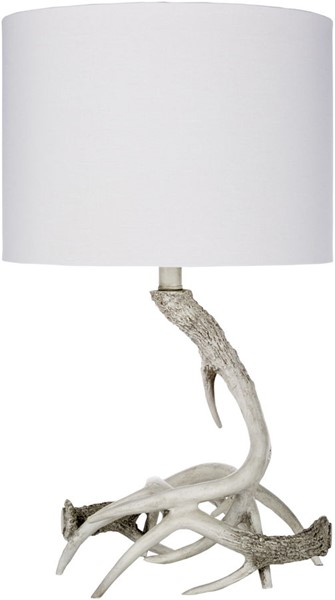 Surya Saxon White Linen Table Lamp - 14x24. SXN-001