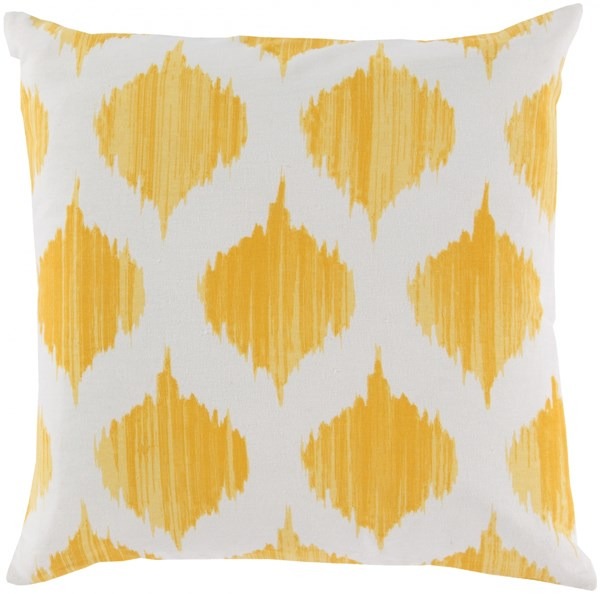 Ogee Sunflower Ivory Poly Cotton Throw Pillow - 18x18x4 SY020-1818P