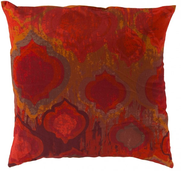 Watercolor Orange Cherry Pink Down Cotton Throw Pillow - 18x18x4 SY032-1818D