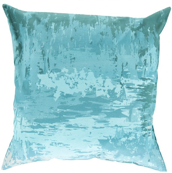 Serenade Teal Aqua Slate Fabric Throw Pillow (L 20 X W 20 X H 5) SY042-2020D