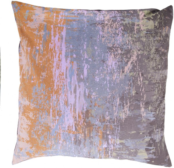 Serenade Contemporary Moss Gold Charcoal Fabric Square Throw Pillow SY043-2020P