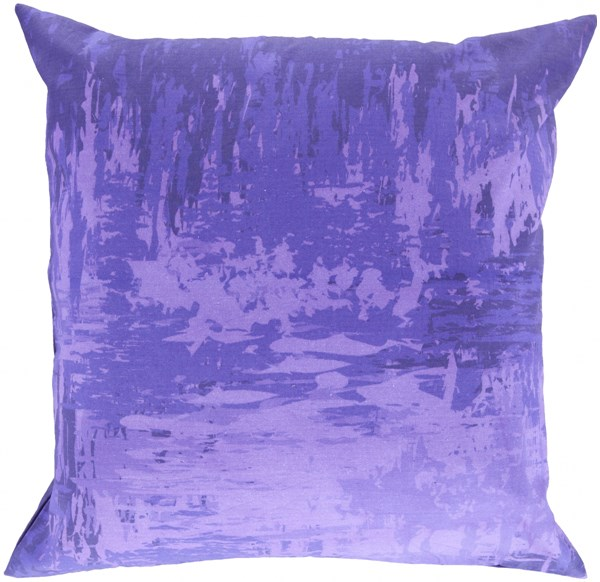 Serenade Lavender Iris Violet Fabric Throw Pillow (L 20 X W 20 X H 5) SY045-2020D