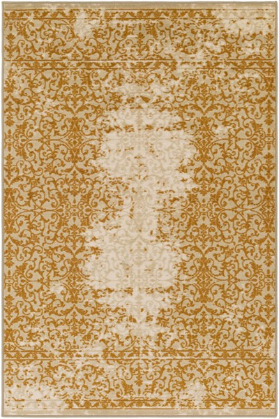 Surya Sonya Khaki Beige Burnt Orange Nylon Area Rug - 120x96 SYA1020-810