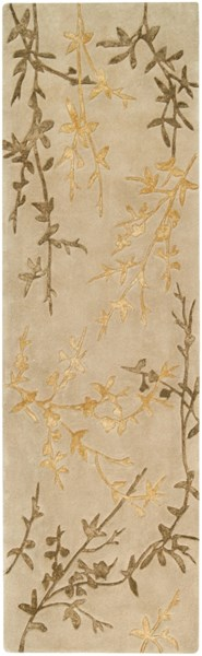 Tamira Taupe Gold Olive Polyester Wool Runner - 30 x 96 TAM1004-268
