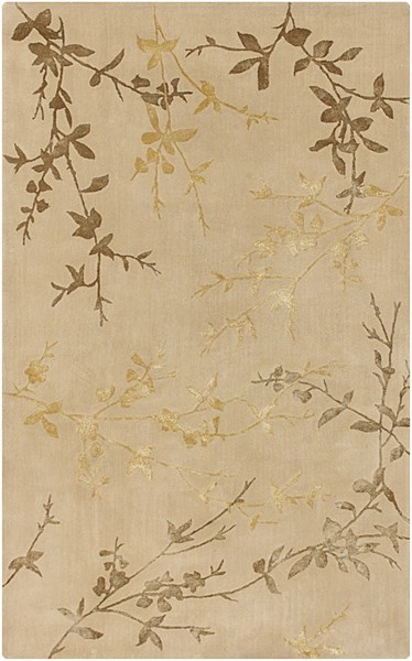 Tamira Taupe Gold Olive Polyester Wool Area Rug - 60 x 96 TAM1004-58