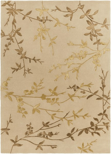 Tamira Taupe Gold Olive Polyester Wool Area Rug - 96 x 132 TAM1004-811