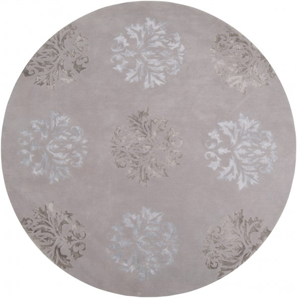 Tamira Gray Polyester Wool Round Area Rug - 96 x 96 TAM1006-8RD