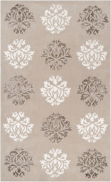 Tamira Taupe Ivory Gray Polyester Wool Area Rug - 60 x 96 TAM1041-58