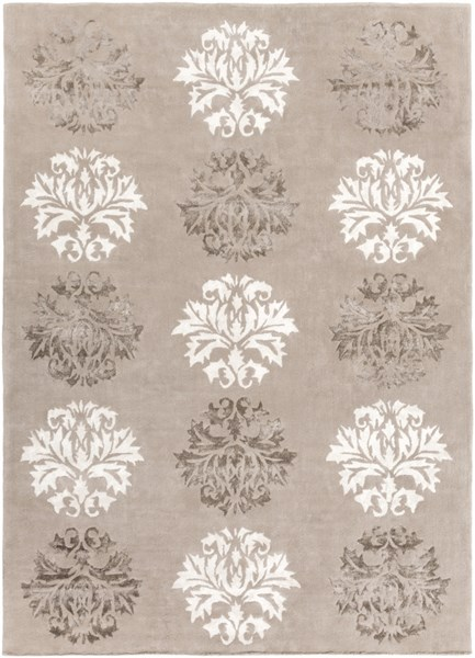 Tamira Taupe Ivory Gray Polyester Wool Area Rug - 96 x 132 TAM1041-811