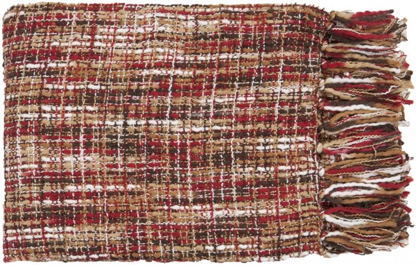 Tabitha Traditional Cherry Ivory Beige Acrylic Throws TAT8202-5060