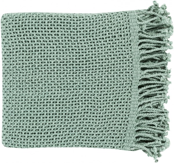Tibey Traditional Teal Cotton Rectangle Throws TBE5000-5070