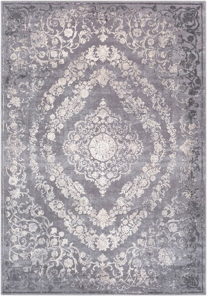 Surya Tibetan Gray Charcoal Cream Polyester Antique Area Rug - 180x142 TBT2301-111015