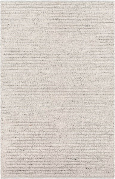 Surya Tundra White Gray Black Polyester Area Rug - 120x96 TDA1001-810
