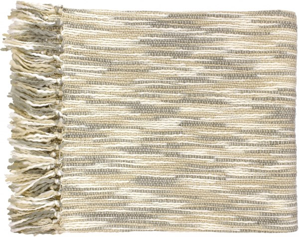 Teegan Traditional Ivory Light Gray Acrylic Textural Throws 13730-VAR1