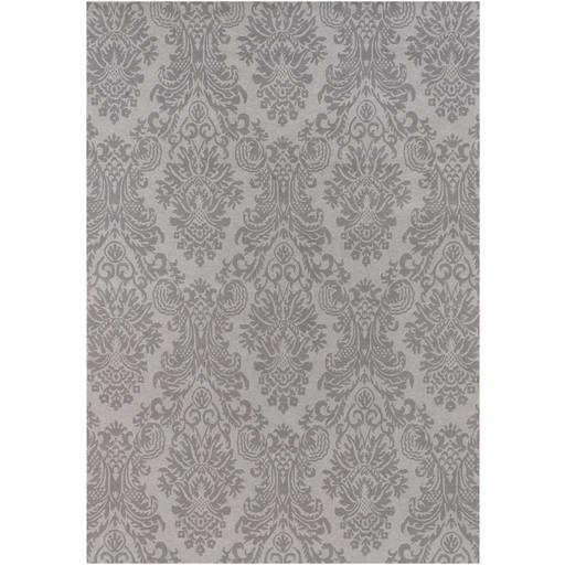 Terran Traditional Pussywillow Gray Pewter Rectangle Wool Rug TER1000-VAR