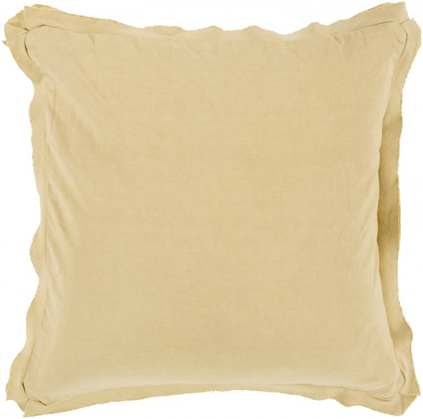 Triple Flange Beige Poly Cotton Throw Pillow - 22x22x5 TF004-2222P